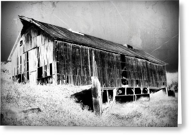 Barn Digital Art Greeting Cards - Seen Better Days Greeting Card by Julie Hamilton