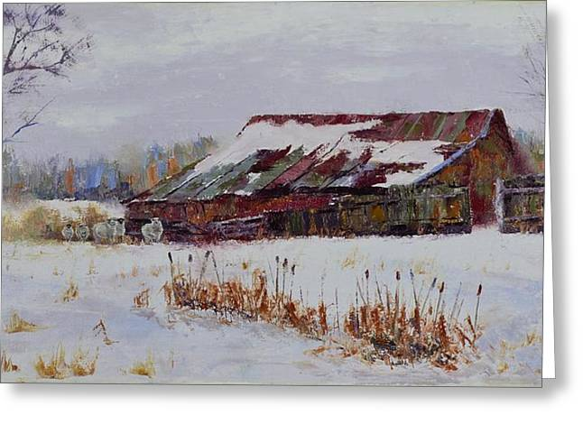 Snowy Day Greeting Cards - Seen Better Days Greeting Card by Stephen David Rathburn