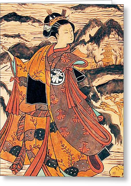 Carrie Glenn Greeting Cards - Segawa Kiyomitsu Greeting Card by Carrie Jackson
