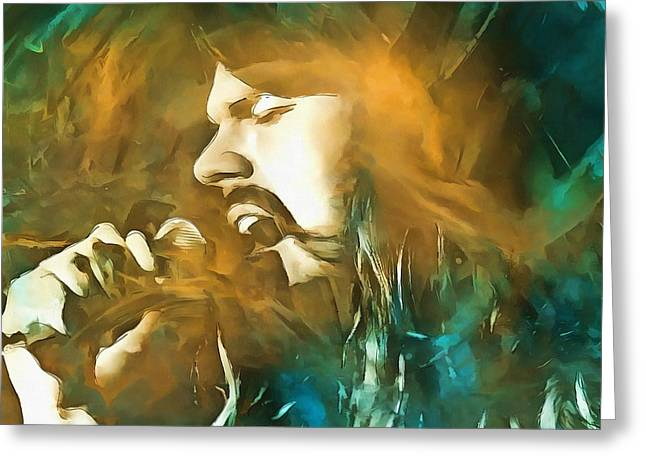 Live Music Mixed Media Greeting Cards - Seger Greeting Card by Dan Sproul