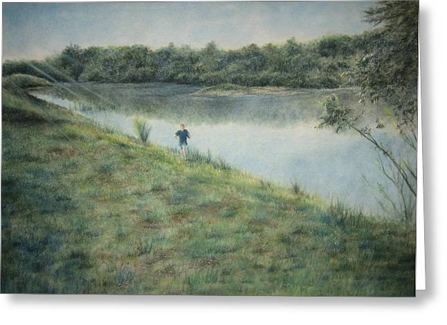 The Hills Pastels Greeting Cards - Seize The Hill Greeting Card by Larry Whitler