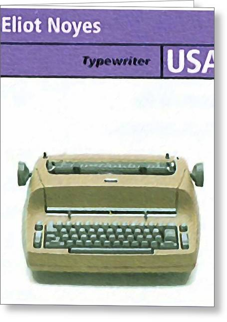 Typewriter Paintings Greeting Cards - Selectric  typewriter Greeting Card by Lanjee Chee