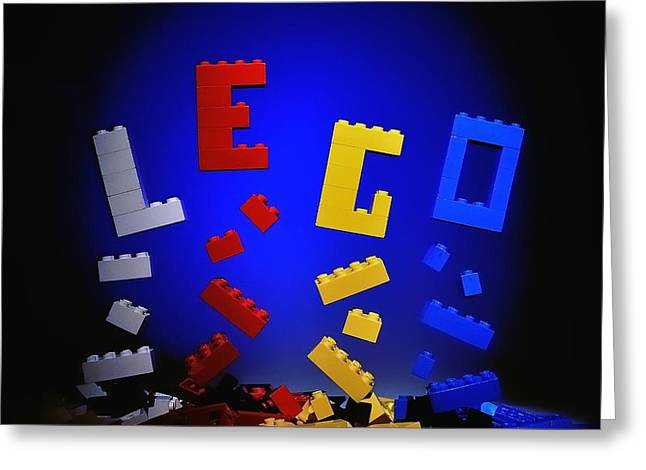 Lego Greeting Cards - Self-Assembly Greeting Card by Mark Fuller
