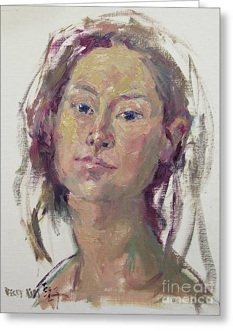 Self Portrait 1602 Greeting Card by Becky Kim