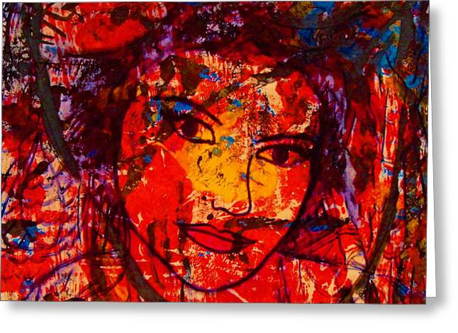 Self-Portrait-5 Greeting Card by Natalie Holland