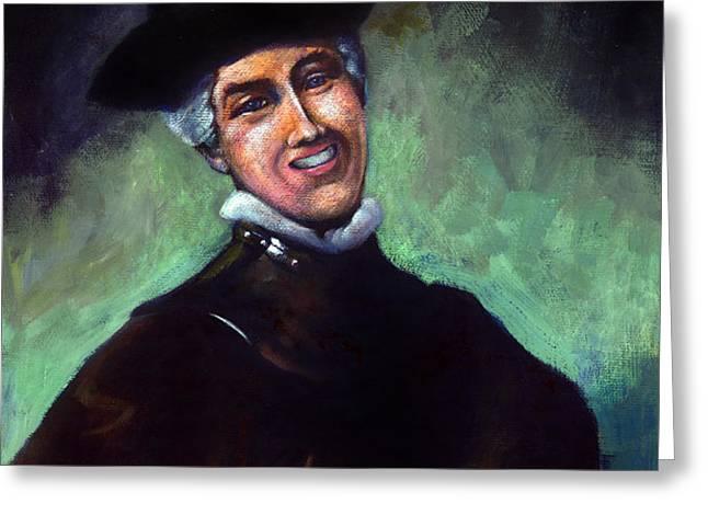 Self Portrait a la Rembrandt Greeting Card by Angela Treat Lyon
