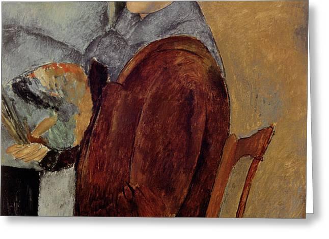 Self Portrait Greeting Card by Amedeo Modigliani