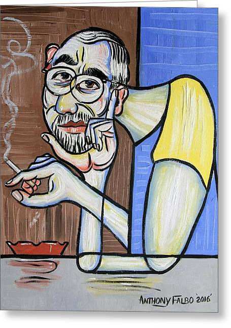 Self Portrait From My Perspective Greeting Card by Anthony Falbo