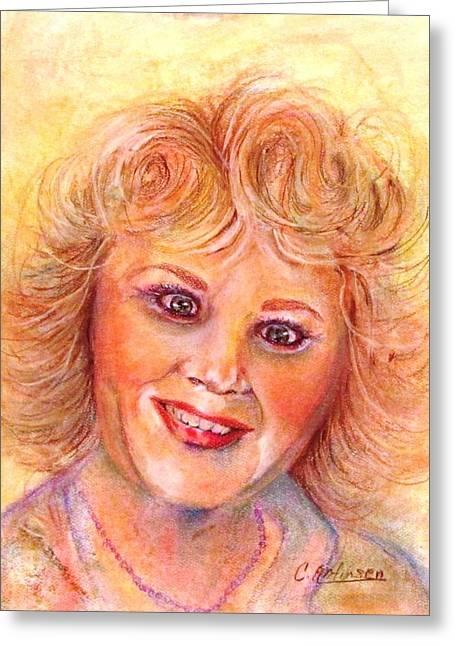 Self-portrait Greeting Card by Carol Allen Anfinsen