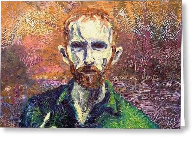 Self-portrait Greeting Cards - Self Portrait Greeting Card by John  Nolan