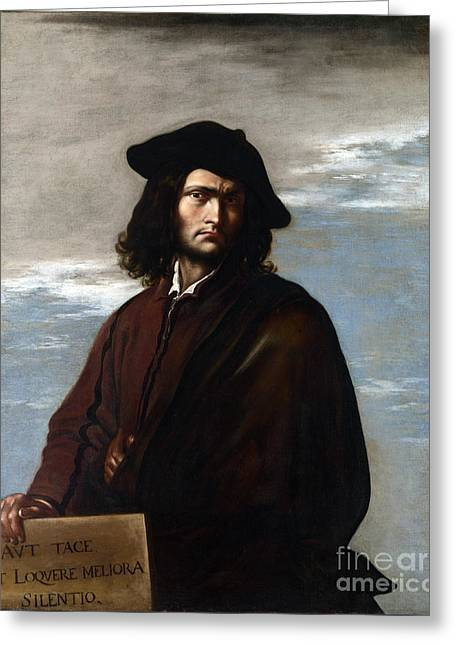 Self-portrait Greeting Cards - Self-portrait of Salvator Rosa Greeting Card by Celestial Images