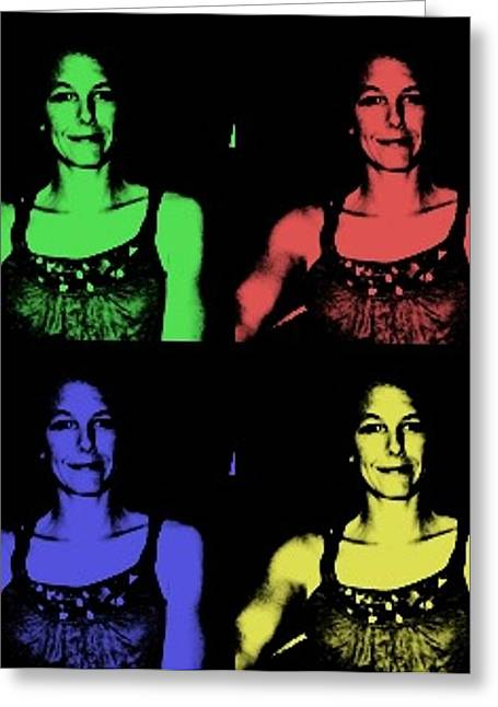 Self-portrait Greeting Cards - Self Portrait Greeting Card by Rashelle Brown
