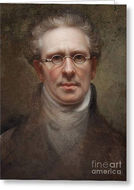 1860 Greeting Cards - Self Portrait Greeting Card by Rembrandt Peale