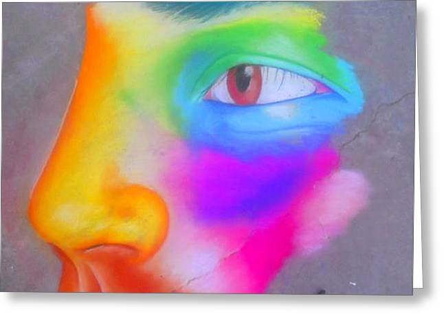 Many Pastels Greeting Cards - Self potrait in Black  Greeting Card by Eli  Farias