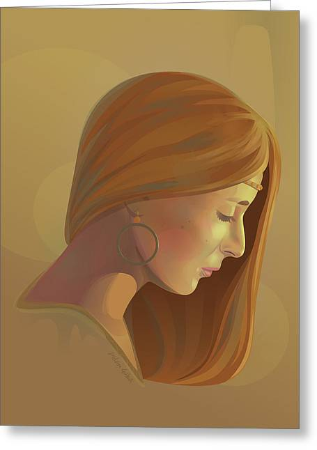 Inner Self Greeting Cards - Self-reflection Greeting Card by Adam Gaba