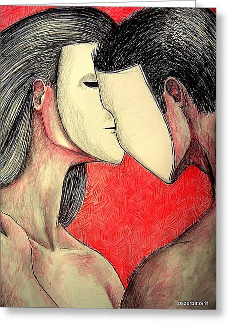 Selfish Relationships Greeting Card by Paulo Zerbato