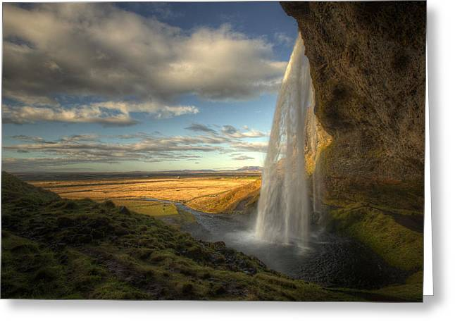 Iceland Greeting Cards - Seljalandsfoss Greeting Card by Max Witjes