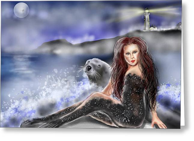 Selkie Greeting Card by Rob Hartman