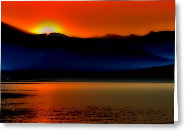 Nature Abstract Greeting Cards - Selkirk Sunrise on Priest Lake Greeting Card by David Patterson