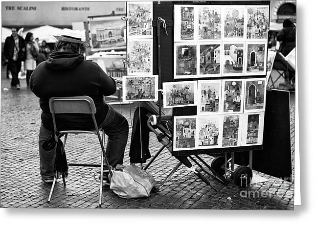 Selling Fine Art Greeting Cards - Selling Art in Rome Greeting Card by John Rizzuto