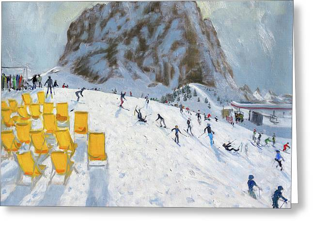 Selva Val Gardena, Italy Greeting Card by Andrew Macara