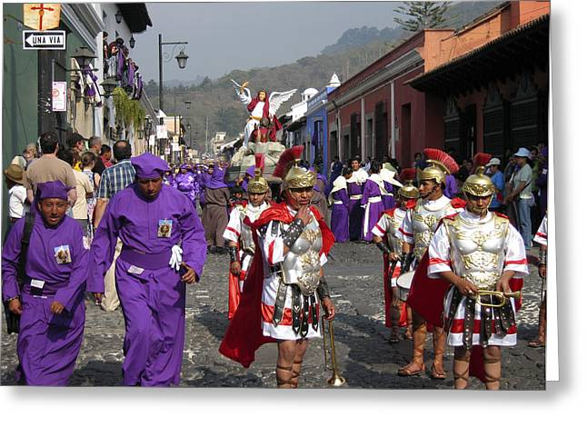 Recently Sold -  - Holy Week Greeting Cards - Semana Santa Procession I Greeting Card by Kurt Van Wagner