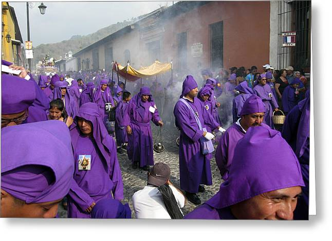 Semana Santa Procession IV Greeting Card by Kurt Van Wagner