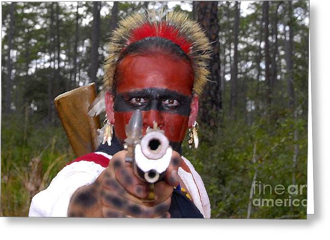 Indian Warriors Photographs Greeting Cards - Seminole Warrior Greeting Card by David Lee Thompson