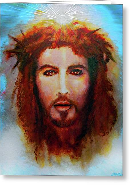 Christ Mixed Media Greeting Cards - Semper Te Amabo Greeting Card by Michael Durst