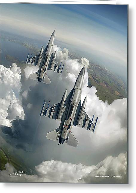 Wwi Greeting Cards - Semper Viper Two Greeting Card by Peter Van Stigt