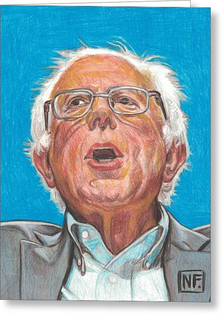 Senator Bernie Sanders  Candidate For The Democratic Nomination For President Of The United States Greeting Card by Neil Feigeles