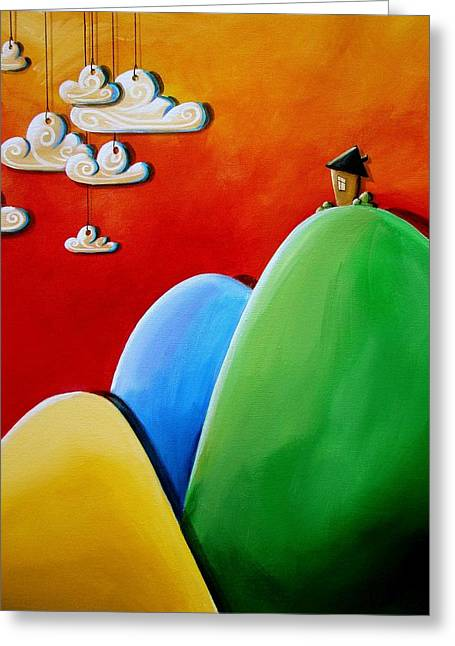 Whimsical Greeting Cards - Send In The Clouds Greeting Card by Cindy Thornton