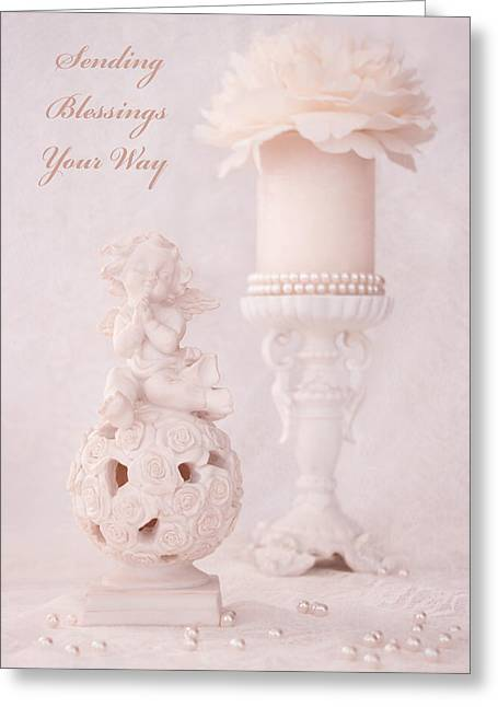 Sending Blessings Your Way Greeting Card by Iryna Burkova