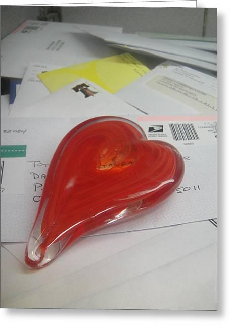 Sending You My Heart Through The Mail Greeting Card by WaLdEmAr BoRrErO