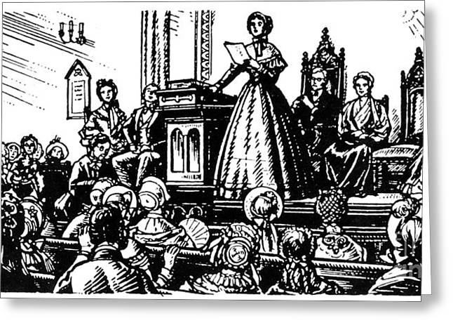 Convention Greeting Cards - Seneca Falls Meeting, 1848 Greeting Card by Granger