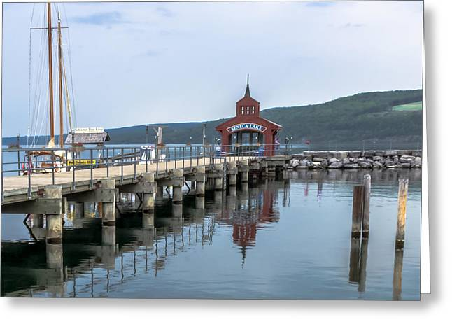 Finger Lakes Pyrography Greeting Cards - Seneca Lake Greeting Card by Rachel Snydstrup