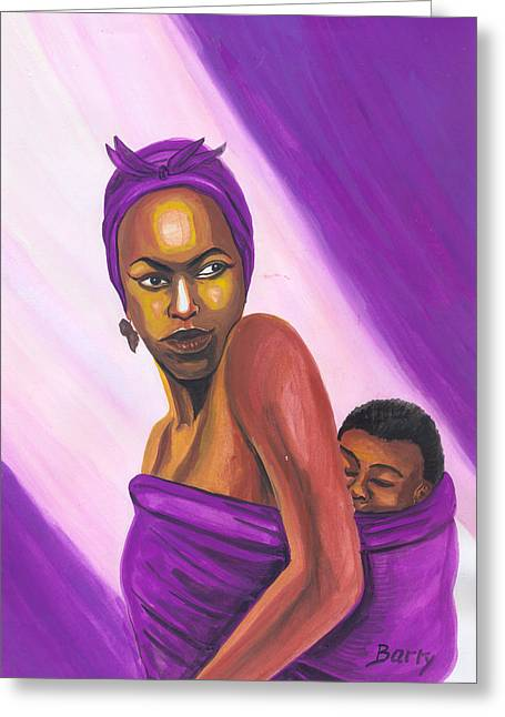 Emmanuel Baliyanga Greeting Cards - Senegalese Woman Greeting Card by Emmanuel Baliyanga
