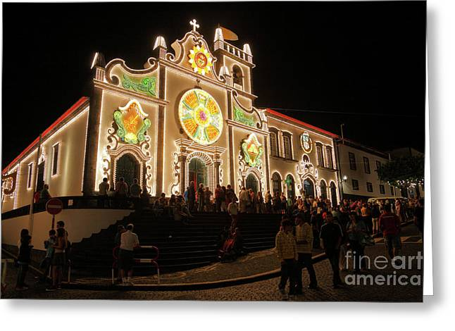 Festivities Greeting Cards - Senhor da Pedra fest Greeting Card by Gaspar Avila