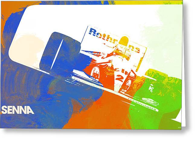 Speed Greeting Cards - Senna Greeting Card by Naxart Studio