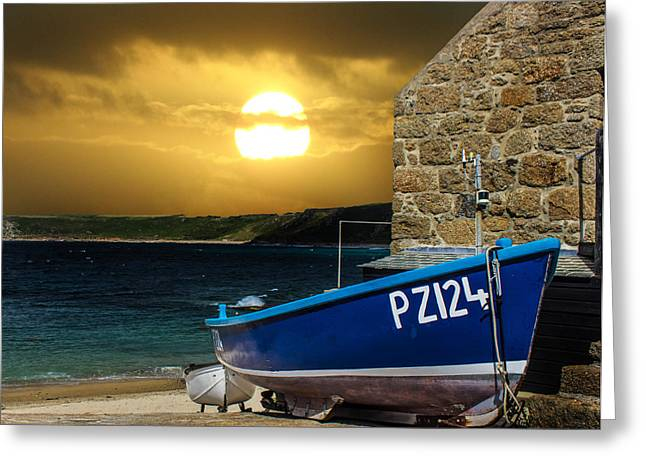 Low Light Greeting Cards - Sennen Cove Cornwall Greeting Card by Martin Newman