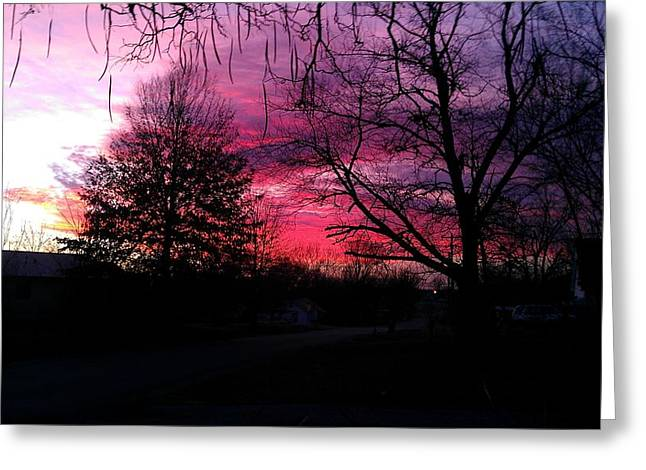 Chelsea Digital Art Greeting Cards - Sensational Sunset Greeting Card by Amber  Oxford