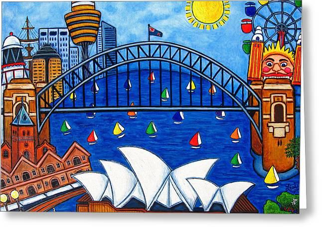 Luna Greeting Cards - Sensational Sydney Greeting Card by Lisa  Lorenz
