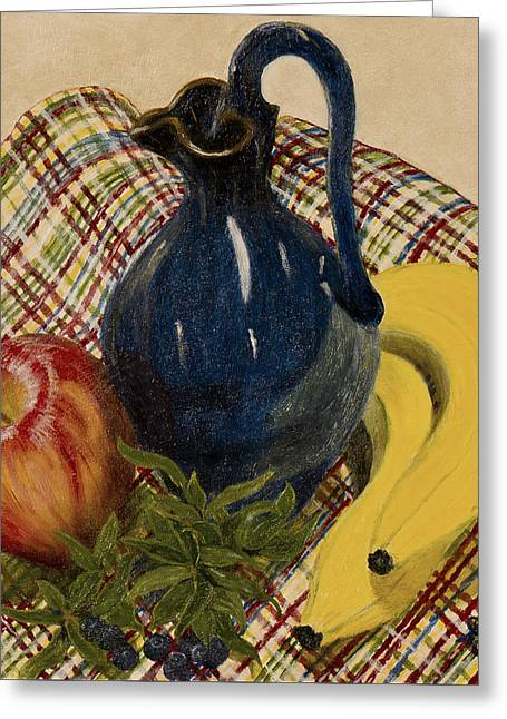 Pottery Pitcher Greeting Cards - Sense of Tranquility Greeting Card by Sandra Wilkie