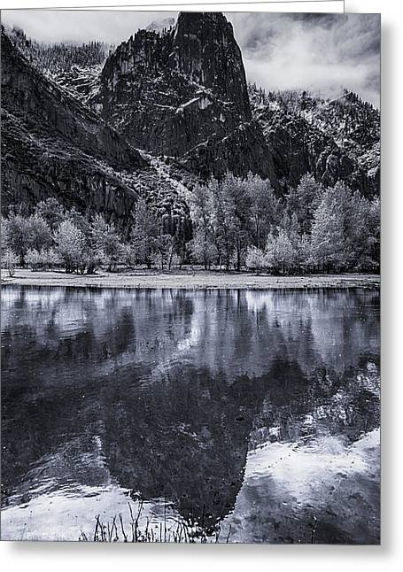 Reflection In Water Greeting Cards - Sentinel Rock Greeting Card by Bill Roberts
