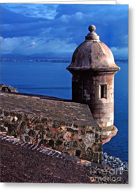 San Juan Puerto Rico Greeting Cards - Sentry Box El Morro Fortress Greeting Card by Thomas R Fletcher