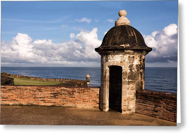 Castillo San Felipe Greeting Cards - Sentry Boxes of Old San Juan Greeting Card by Carter Jones