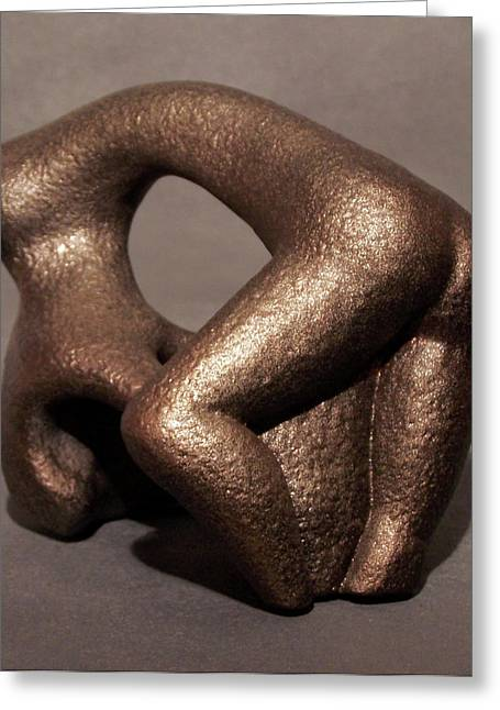 Abstract Forms Sculptures Greeting Cards - Separation Of Earth From Body Greeting Card by Lonnie Tapia