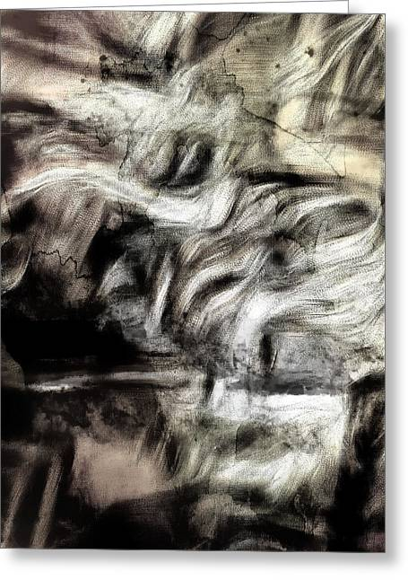 Sepia Abstract  Greeting Card by Tom Gowanlock