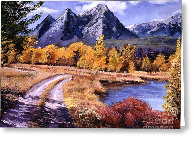 Peaceful Scenery Paintings Greeting Cards - September High Country Greeting Card by David Lloyd Glover
