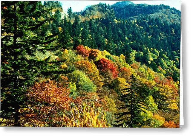 September Mountainside Greeting Card by Kevin  Sherf